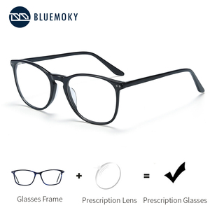 Image 1 - BLUEMOKY Acetate Prescription Glasses for Women Men Square Optical Myopia Spectacles Frames Anti Blue Light Ray Computer Eyewear