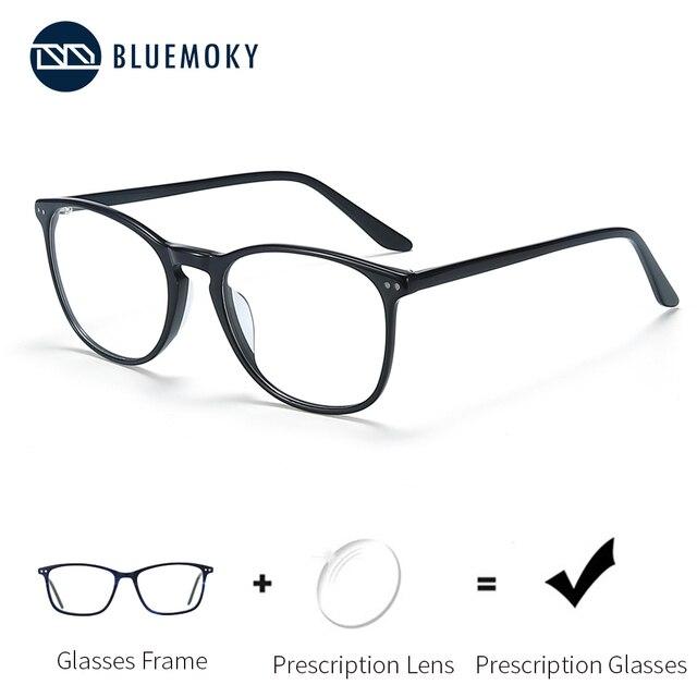 Мужские и женские очки для близорукости BLUEMOKY, квадратные оптические оправы для очков по рецепту