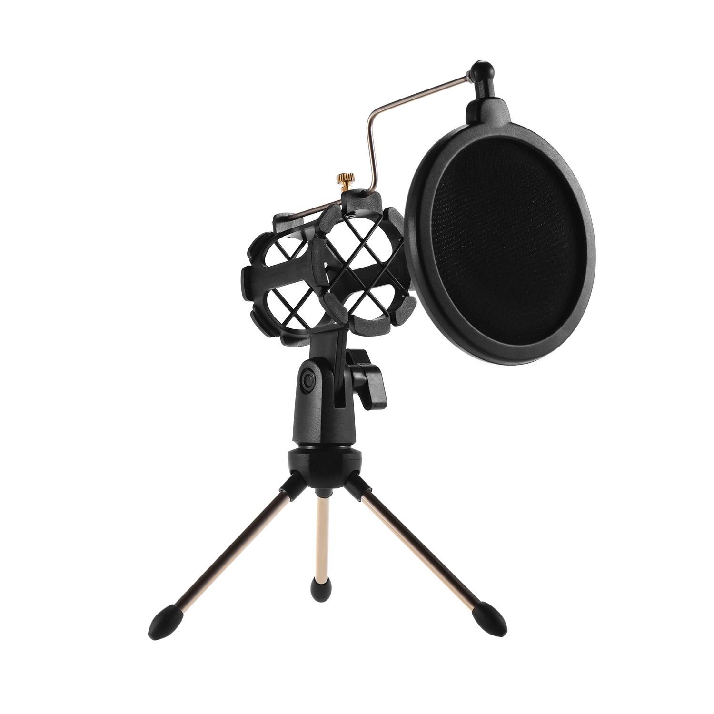 Soporte de filtro Pop para micrófono, Mini soporte de micrófono para escritorio para grabación de estudio, transmisión en línea, reunión de chat