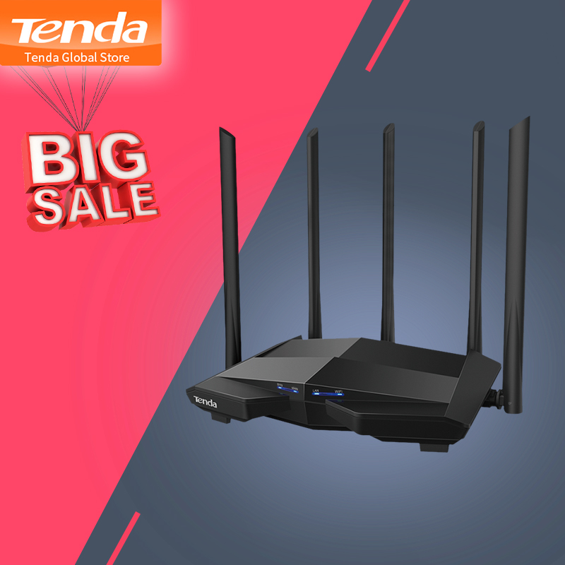 Tenda Wireless Wifi Router Repeater-App Dual-Band AC7 AC1200 Antennas Smart 5 Remote-Manage/easy-Setup