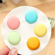 5pcs/pack Candy-colored Macarons Eraser Set School Office Supplies Kids Gifts For Studemts