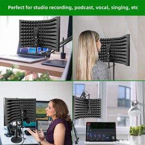 Image 5 - MAONO stüdyo mikrofonu İzolasyon kalkanı katlanabilir yüksek yoğunluklu emici köpük ön Panel ses emici vokal kayıt