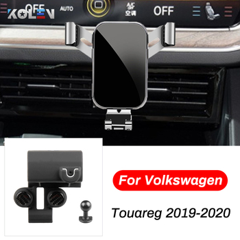 Car Mobile Phone Holder For Volkswagen Touareg 2019 2020 Car Smart Phone GPS Air Vent Outlet Bracket Snap-type Navigation Stand image