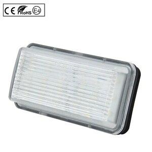 Image 3 - 2pcs LED License Number Plate Light Lamp Clear Light For Toyota Land Cruiser 100 Prado J120 200 Reiz 4D Mark X Lexus LX470 GX470