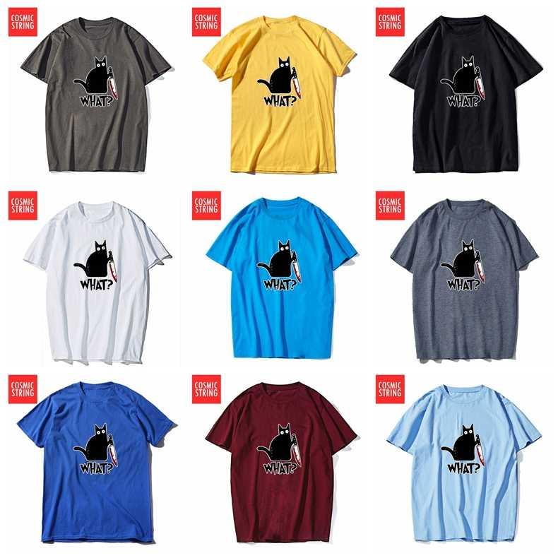 COSMIC STRING kurzarm 100% baumwolle kühlen männer T shirt lose summe männer t-shirt oansatz t-shirt männliche t-shirt