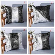 Funda de cojín decorativa de terciopelo Vintage de lujo, funda de almohada Floral para decoración de sofá de coche, funda de almohada para el hogar, fundas de almohada, 45x45cm, nuevo