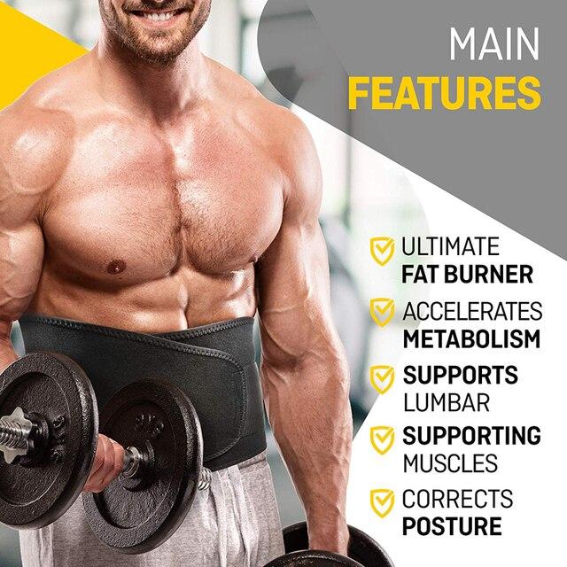Tcare Neoprene Slimming Lumbar Waist Trimmer Belt Weight Loss Sweat Band Wrap Fat Tummy Stomach Sauna Sweat Belt For Gym Fitness 5