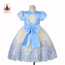 Yoliyolei fashion design girls dress children casual ball gown
