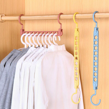 9 holes Clothes coat hanger organizer Multi-port Support Clothes Drying Racks Plastic cabide Storage Rack hangers for clothes цены онлайн
