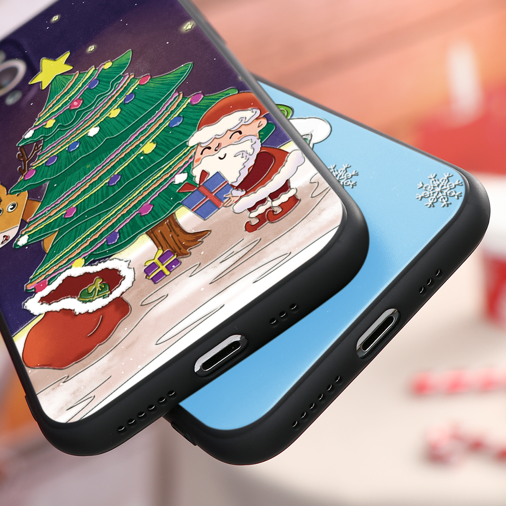 3D Relief Emboss Christmas Cartoon Phone Case For iPhone 12 Pro Max 1