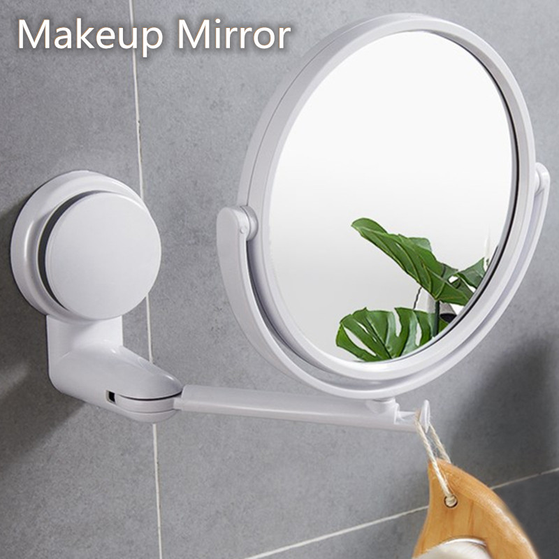 Espejo de baño moderno portátil, 2 espejos laterales para maquillaje, espejos de afeitar, ventosa para pared, herramientas de maquillaje plegables para Baño Colgante de Ángel guardián de cristal H & D, abalorio de coche para espejo retrovisor, decoración colgante de jardín para el hogar, regalo (Chakra)