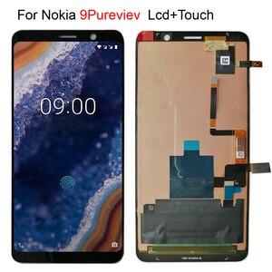 Image 1 - Yeni lcd Nokia 9 için Pureview 9C TA 1004 TA 1005 Lcd ekran ekran + dokunmatik cam sayısallaştırıcı meclisi yedek parçalar