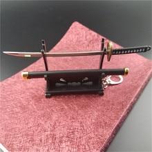 Una pieza especial Roronoa Zoro espada llaveros hebilla con soporte de herramientas Scabbard Katana Sabre coche llaveros regalo llaveros Q-053