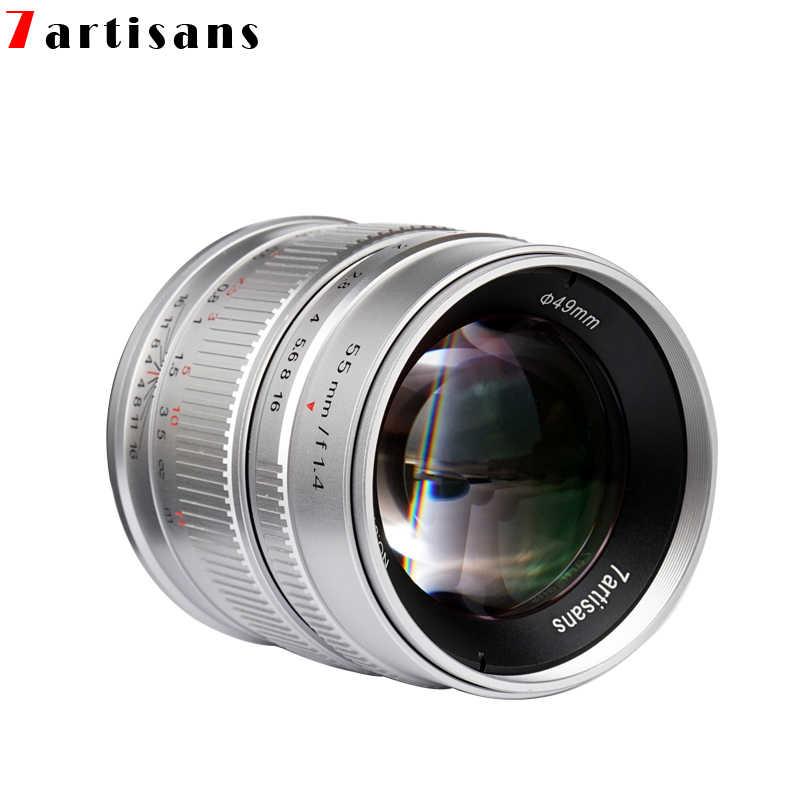 7 ремесленников 55 мм F1.4 Большая диафрагма портрет ручной фокус микро объектив камеры подходит для Canon eos-m крепление E Fuji крепление бесплатная доставка