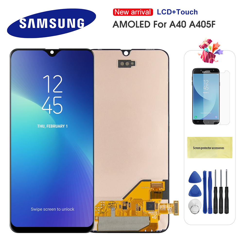 Original Super AMOLED <font><b>LCD</b></font> For <font><b>Samsung</b></font> Galaxy <font><b>A40</b></font> 2019 A405 A405F A405FN/DS <font><b>LCD</b></font> Display Touch Screen Digitizer Assembly image