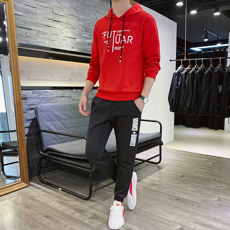 Men Leisure Set 2020 Spring And Autumn New Style Trendy Two-Piece Set Teenager Slim Fit Handsome Coat And Trousers
