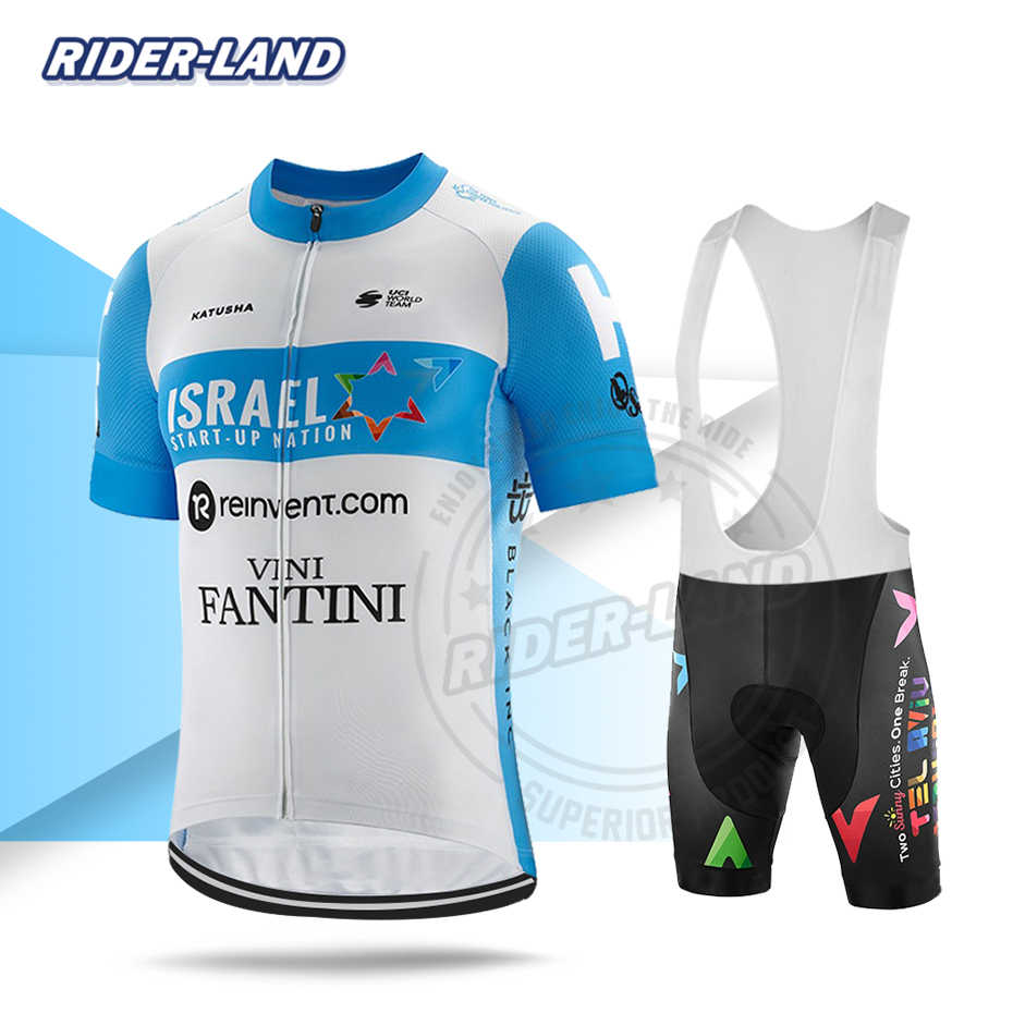 Mannen Fietsen Kleding Jersey Set Korte Mouwen 2020 Pro Team Israël Start Up Natie Race Bike Pak Kampioen Triathlon Mtb uniform