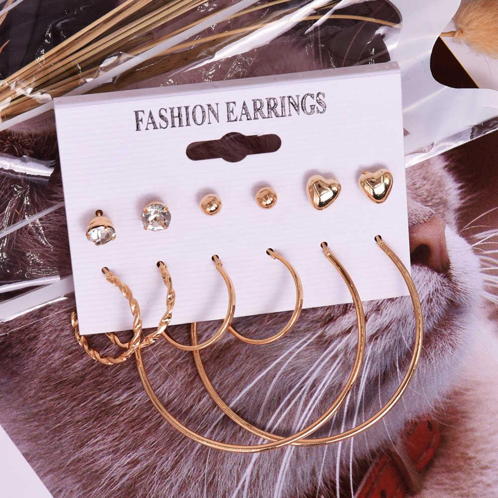 여자를위한 빈티지 술 아크릴 귀걸이 보헤미안 귀걸이 세트 큰 매달려 드롭 귀걸이 2020 Brincos 여성 패션 쥬얼리