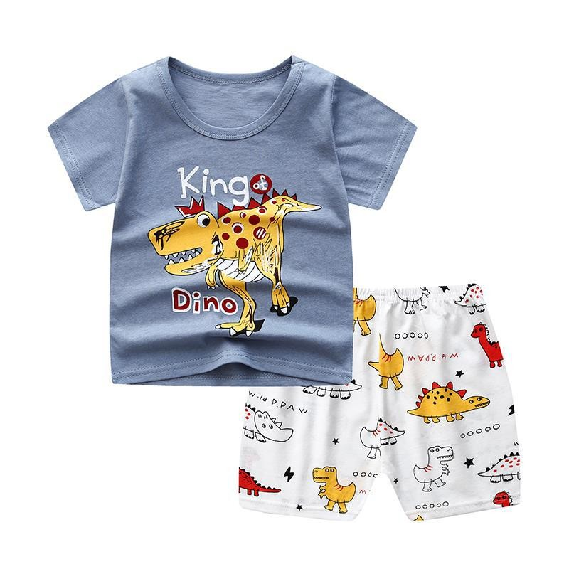 Brand Designer Cartoon Clothing Mickey Mouse Baby Boy Summer Clothes T-shirt+shorts Baby Girl Casual Clothing Sets 4