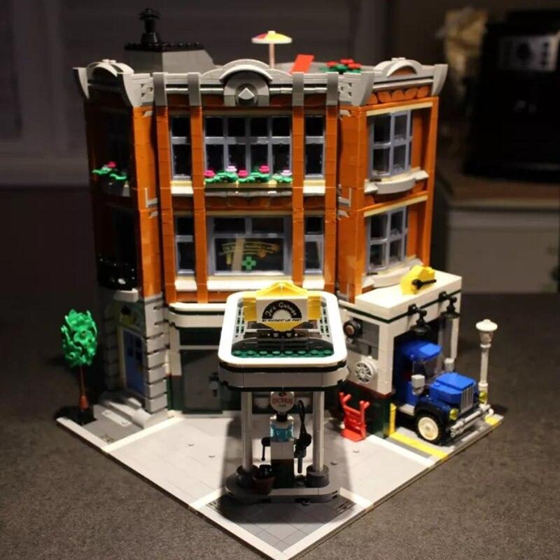 15042 coin Garage ensemble 10264 Assemblage 2569 pièces construction série Buidling blocs enfants jouets cadeaux à collectionner DG006