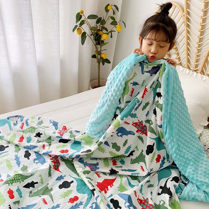 Baby Peas Blanket Children Quilt Airable Cover Infant Blanket Newborn Cover Super Soft Printed Warm Blanket