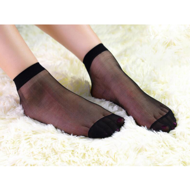 Women Stockings Summer Elastic Fashion Casual See Through Sexy Ultra-thin Stretch Ladies Short Stockings