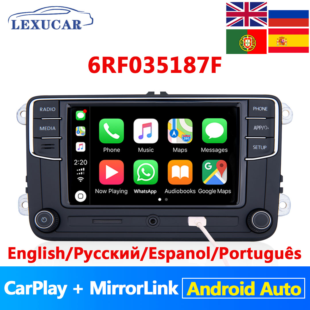 Lexucar <font><b>RCD330</b></font> Plus RCD330G <font><b>NONAME</b></font> Android Auto Carplay 6RF 035 187F R340G RCD 330G For VW Tiguan Golf 5 6 MK5 MK6 Passat Polo image