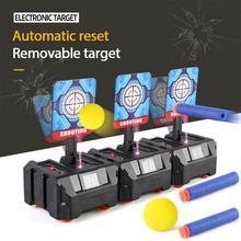 Precision Scoring Auto Reset Electric Target For Toys Outdoor Sports Fun Toys EVA Bullet Gun Toy Accessories Kids Toys Gift