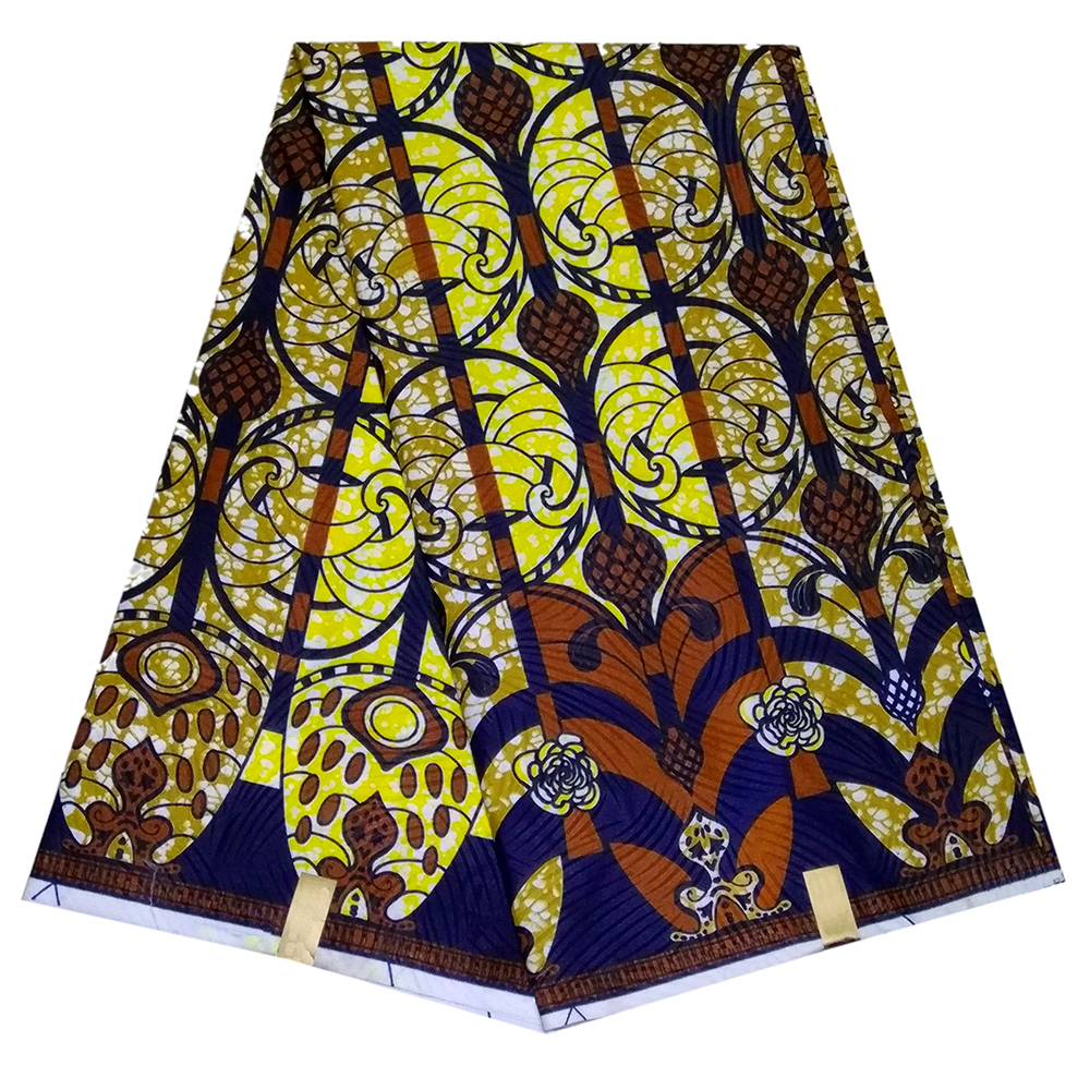 African Veritable Wax Real Dutch Wax Nigerian Fabric African Print Fabric 6Yards\lot
