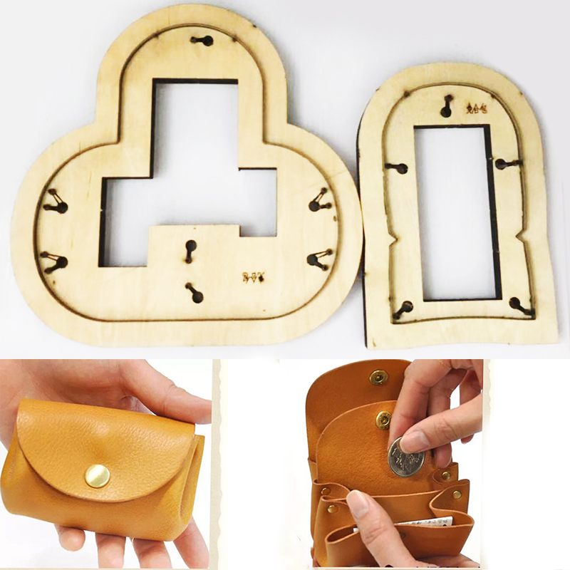 Japan Steel Blade DIY No Sewing Rivet Coin Bag Leather Craft Wooden Die Cutting Hand Tool Set Knife Mould