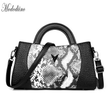 Mododiino Brand Handbag Women Bag Female Serpentine Prints Shoulder Leather Crossbody Luxury Ladies Handbags DNV1159