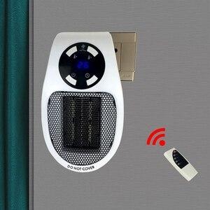 Image 4 - 22%, uzaktan elektrikli Handy isıtıcı 10A 220V 500W hızlı isıtma Mini masaüstü duvar soba radyatör ısıtıcı makinesi
