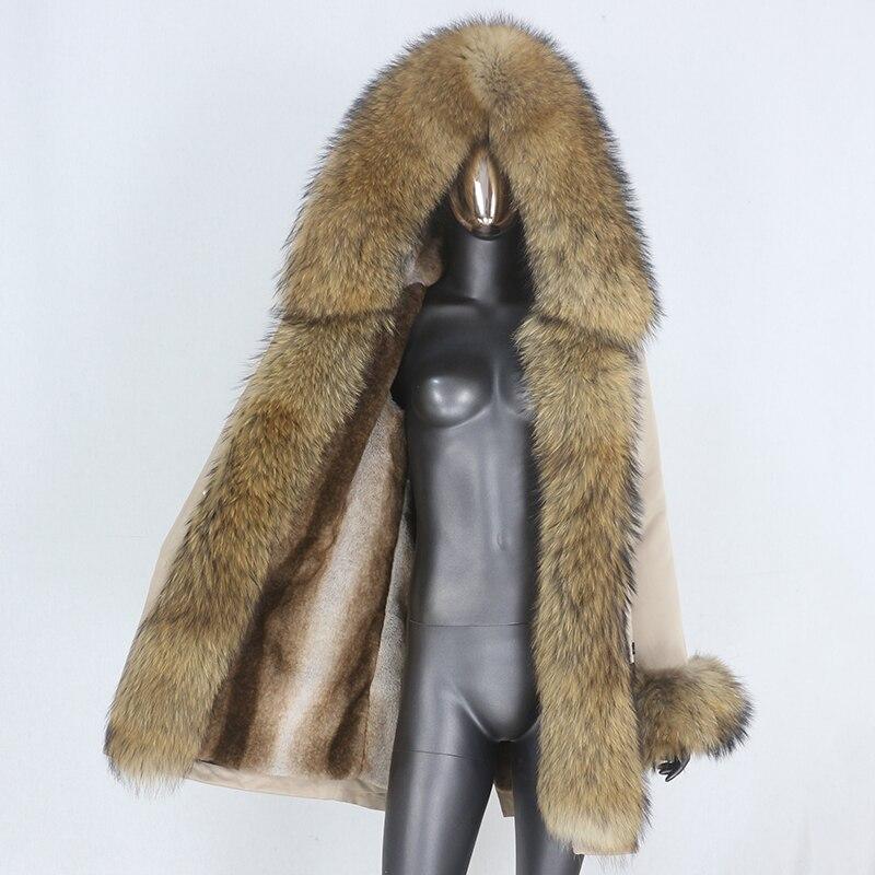 H79bd447d15fe4f11befe46b8ffe72b936 CXFS 2021 New Long Waterproof Parka Winter Jacket Women Real Fur Coat Natural Raccoon Fur Hood Thick Warm Streetwear Removable