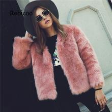цена на Winter New Thick Warm Faux Fur Coat Pink Luxury Women's Furry Coat White Lady Fake Fur Jacket Plus Size Fur Coat Women XXXL