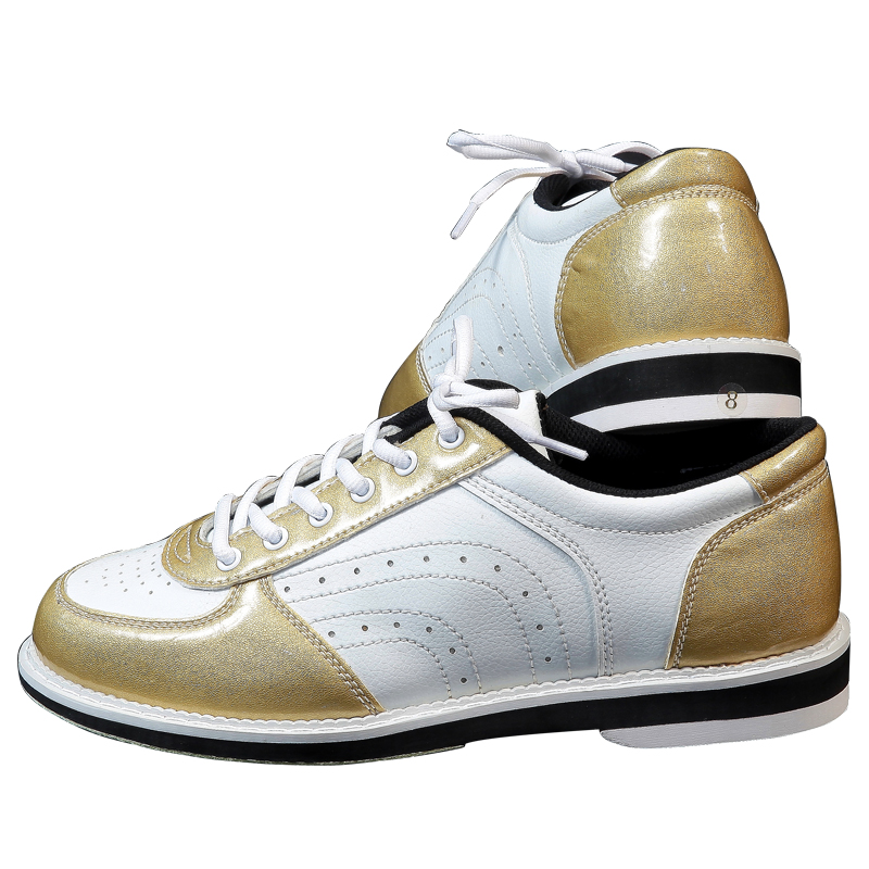Men Right Hand Skidproof Sole Bowling Shoes Women Breathable Lace Up Sports Bowling Trainers Anti-slip Sneakers D0762