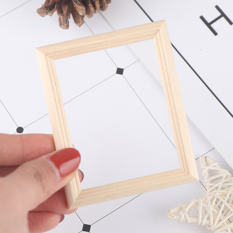 1/12 Dollhouse Miniature Accessories Resin Photo Frame Simulation Furniture Model Toy For Children Doll House Decoration