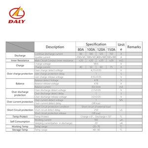 Daly 3,7 v 14s аккумулятор pcm bms 80a 100a e-велосипед литий-ионная система управления аккумулятором 48В с балансом для электронной автомобильной систем...