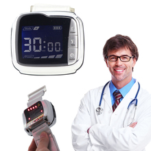 Medical Infrared Laser Watch Lowering Blood Pressure Rhinitis Cholesterol Hypertension Prevent Cerebral Thrombosis high blood pressure diabetes cholesterol rhinitis treatment cerebral thrombosis medical device laser therapy wrist watch