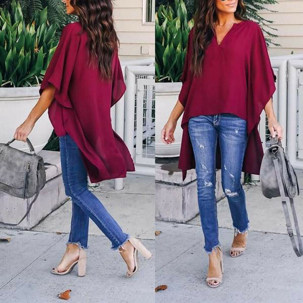 Gothic Vadim Women Office Elegant Long Loose Blouse Ladies Casual Long Sleeve Work Shirt Blouse Femininas Blusa Plus Size Mujer