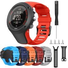 24mm silicone esporte substituição relógio banda para suunto ambit 3/ambit 2/ambit 1 relógio inteligente pulseira de pulso pulseiras