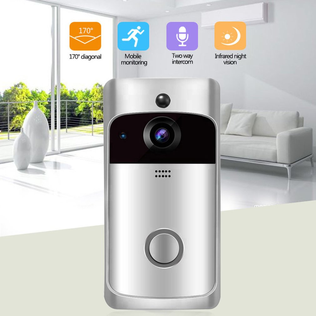 Video Doorbell Smart Wireless Wifi Security Doorbell Visual Recording Home Monitor Night Vision Intercom Door Phone