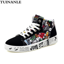 TUINANLE High Top White Sneakers Women New Fashion Graffiti Womens