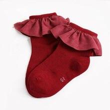 Baby Socks Lace Newborn Winter Princess Cute Autumn Flower Girls Cotton