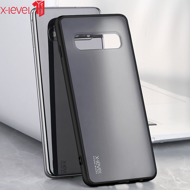 X-Level Transparent Case For Samsung S10 Plus Hard Matte PC Soft Silicone Edge Back Phone Cover For Samsung <font><b>Galaxy</b></font> <font><b>S10e</b></font> Case S10 image