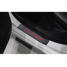 Skoda Octavia A5 A7 2007 2014 도어 씰 프로텍터 자동차 인테리어 액세서리에 대 한 4 개/대 자동차 도어 실 가드 스티커
