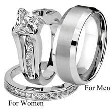 1 PC Couple Ring For Men Women Alloy Artificial Diamond Smooth Ring Wedding Engagement Fashion Jewelry Accessories Dropship New(China)