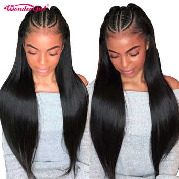 Wonder girl Transparent Lace Wig 360 Lace Frontal Wig Pre Plucked With Baby Hair Peruvian Straight Lace Front Human Hair Wigs - DISCOUNT ITEM  57% OFF All Category
