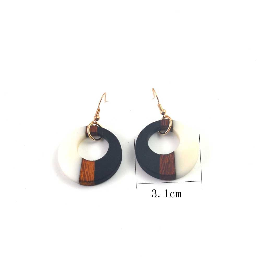 Orecchini speciali, di resina di legno con il classico regali, geometrica rotonda di colore quadrato femminile regali di compleanno dei monili del partito