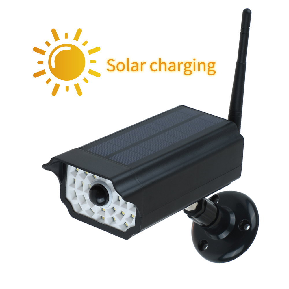 Dummy fake camera Outdoor Waterproof Home Camera Solar Power Simulation Camera With LED light Security Surveillance