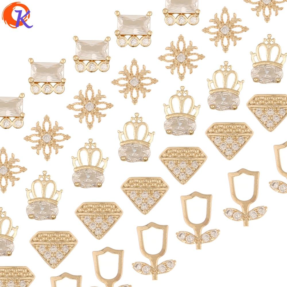 Design cordial 100 pces acessórios de jóias/zircônia cúbica encantos/dedos achados/diy fazendo/genuíno chapeamento de ouro/decoração